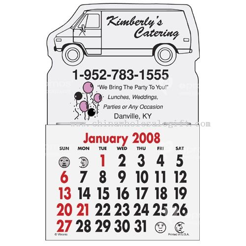 Magna-Stick Calendar - Van