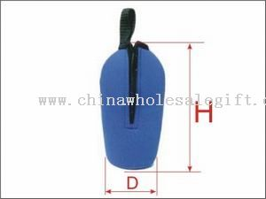 Bottle Cooler with zipper and strap handle