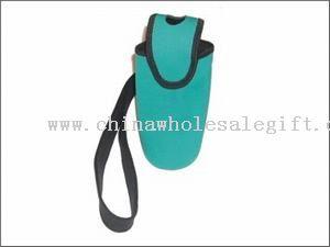 Bottle holder with shoulder strap
