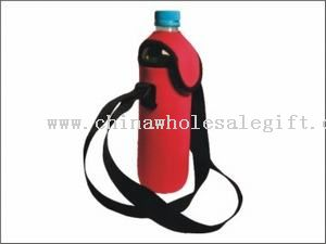 Water Bottle Cooler with cap and shoulder strap