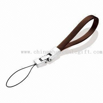 Mobile Phone Short Strap with Metal Decoration