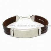 Bracelet, Made of Genuine Leather and 316L Stainless Steel images
