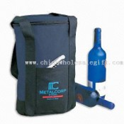 Insulated Top Zipper Promotional or Corporate Gift Wine Cooler Bag with Nylon Carrying Straps images
