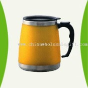 Stainless Steel Travel Mug with Plastic Outer in Rubber Finish images