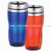 Travel Mug Made of Plastic with Stainless Steel Lid images