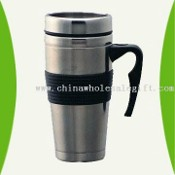 Vacuum Travel Mug with Stainless Steel Body and Lid images