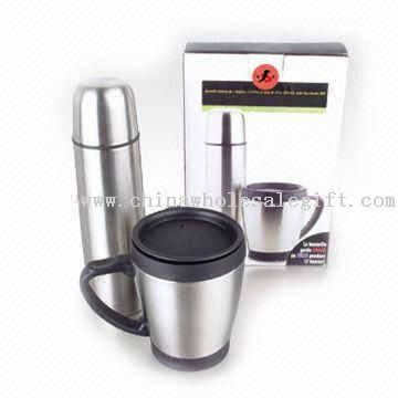 High-grade Gift Set with 500ml Vacuum Flask and 16-ounce Travel Mug
