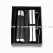 Flask Gift Set with 2-piece 11oz Double-wall S/S Mug images
