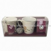 Mug Set with Black Tea and Butter Cookies images