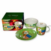New Bone China Mug Dinner Set with Animal Printing and Gift Box images