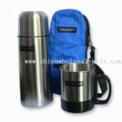 Stainless Steel Gift Set with Vacuum Flask and Single-wall Coffee Mug images