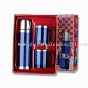 Vacuum Flask and Coffee Mug Set with Gift Box Packing images