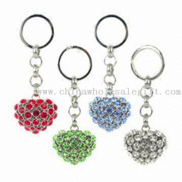 Heart Keychains with Crystal