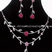 Costume Jewelry Set with Swarovski Rhinestones images
