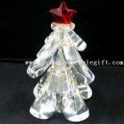 Crystal Tree Figurine with Red Star for Holiday images