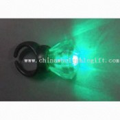 Flashing Crystal Ring with Green LED images