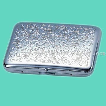 Brass Cigarette Case in Silver-Plated Finish