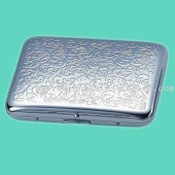 Brass Cigarette Case in Silver-Plated Finish images