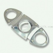 Stainless Steel Cigar Cutter with Glossy Finish images