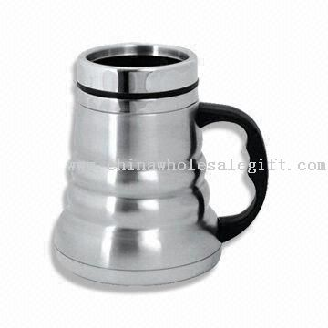 16oz Double-walled Stainless Steel Travel Mug with Wide Bottom