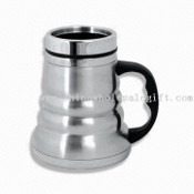 16oz Double-walled Stainless Steel Travel Mug with Wide Bottom images