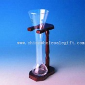 Beer Glass with Wooden Stand, Your Logo on Glass and Stand Available images