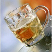 Machine-made Glass Beer Mug with Logo Print for Promotional Item images