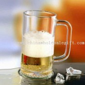 Machine Press Glass Beer Mug with Brand Print for Promotional Item images