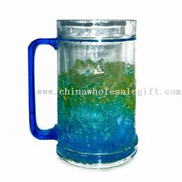 Ice Mug with Colorful Gel Inside and Capacity of 450mL