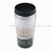 Double-walled Plastic Mug with Paper Insert for Promotion images