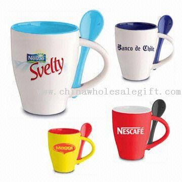 11OZ Promotional Coffee Mugs with Mini Spoons
