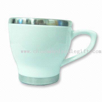 Ceramic Coffee Mug with Stainless Steel Inner