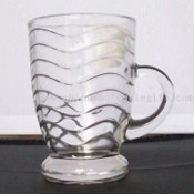 130 ml Capacity Glass Mug with Ripple Pattern images