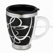 450ml Travel Mug, Made of Stainless Steel Liner and Ceramic Outer images