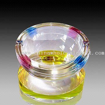 Ashtray, Made of Colorful Crystal