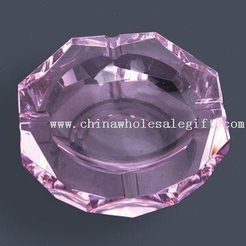 Crystal Purple Ashtray with Diamond-edged