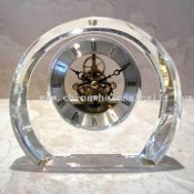 Crystal Clock with Brass Skeleton Movement images