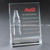Crystal Trophy with Coca Cola Logo images