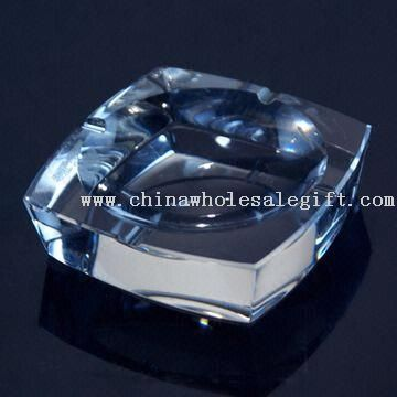 Square Shape K9 Crystal Ashtray