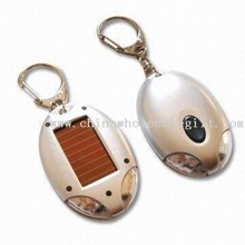 2-piece LED Solar Keychain Light with Crystal Panel images