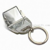 Bag-shaped Keychains with Compact Mirror images