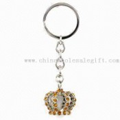 Crown Metal Keychain with Czech or China Crystals images