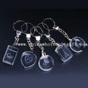 Crystal Keychains with Customized Lasered Logos images