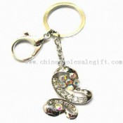 Fashionable Pendant Keychain with Crystal and 9.80cm Total Length images