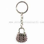 Handbag Metal Keychain with Czech or China Crystals images