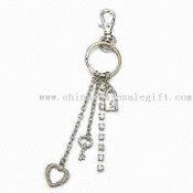 Metal Keychain, Sparkled with Charms and Crystals images