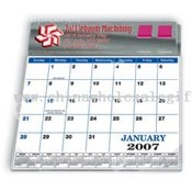 Plastic Molded Desk Pad Calendar and Flag Dispenser images