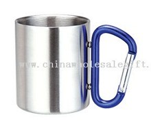 Stainless Steel Coffee Cup with carabiner handle images