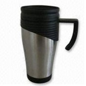 Stainless Steel Travel Mug with plastic inner images