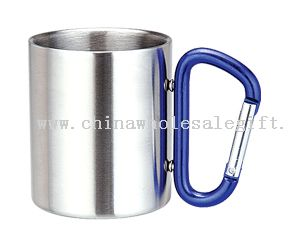 Stainless Steel Coffee Cup with carabiner handle